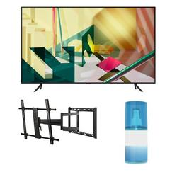 """Samsung QN85Q70TA 85"""" 4K Ultra High Definition QLED Smart HDR TV with a Walts TV Large/Extra Large Full Motion Mount for 43""""-90"""" Compatible TV's and Walts HDTV Screen Cleaner Kit (2020)"""