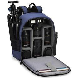 Camera Backpack Bag Professional for DSLR/SLR Mirrorless Camera Waterproof, Camera Case Compatible for Sony Canon Nikon Camera and Lens Tripod Accessories Blue