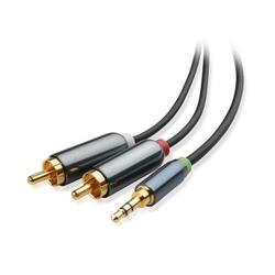 Cable Matters 3.5mm to RCA Cable (Stereo to RCA / Aux to RCA / Headphone Jack to RCA / RCA to Stereo) Black 10 Feet