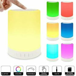 Night Light Bluetooth Speaker, Portable Wireless Bluetooth Speakers, Touch Control Bedside Table Light, Outdoor Speakers Bluetooth, Speakerphone/TF Card/AUX-in Supported, Best Gifts for Girl, Boy