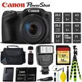 Canon is Digital Point and Shoot 20MP Camera + Extra Battery + Digital Flash + Camera Case + 16GB Class 10 Memory Card - Intl Model