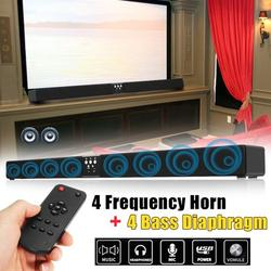 60W Wireless bluetooth Soundbar Speaker 5.1 Channel Home Theater Sound Bar 4 Horn 8 Speaker Home TV Theater HIFI Stereo Subwoofer with Remote Control Gift