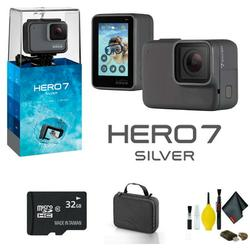 GoPro HERO7 SILVER - Bundle Includes: 32GB Memory Card, Case And More - Starter Bundle