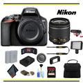 Nikon D3500 DSLR Camera Advanced Bundle W/ Bag, Extra Battery, LED Light, Mic, and More - (Intl Model)