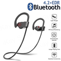 Wireless Earbuds,5.0 Bluetooth Sport Headphones Stereo Bass Sound TWS Ear Buds Over Ear Sweatproof Headset 8 Hours Playtime Wireless Earphones with Mic & Charging Case for Running/Working Out