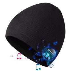 Bluetooth Beanie for Men, Bluetooth Hat, Mens Gifts, Women Mens Beanie Hats with Wireless Bluetooth Headphones, Knit Cap Winter Warm Hats for Outdoor Sports, Running, Skating, Xmas Gifts for Men Women