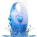 Shower Radio, Adjustable Volume Shower AM FM Button Speaker, Bathroom Shower Speakers Wireless Radio with Top Handle Blue