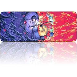 """Naruto Mousepad Large Extended Gaming Mouse Pad, Non-Slip Water-Resistant Rubber Base Mouse Mat(31.5""""x11.8"""")"""