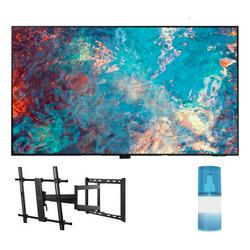 """Samsung QN65QN85AA 65"""" QN85AA Series Neo QLED 4K UHD Smart TV with a Walts TV Large/Extra Large Full Motion Mount for 43""""-90"""" Compatible TV's and Walts HDTV Screen Cleaner Kit (2021)"""