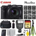 Canon Digital Camera Digital Camera + Extra Battery + Digital Flash + Camera Case + 16GB Class 10 Memory Card + 2 Year Extended Warranty (Total of 3YR) - Intl Model