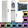LED TV Backlight USB LED Strip Lights 0.5M 5050 RGB Light Strips Kit Bias Lighting with Remote Control for HDTV Flat Screen TV Accessories Desktop Monitors PC Multi Color