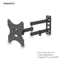 """TV Mount for Most 26-55"""" TVs, Universal Wall Mount with Loading 66lb & Max VESA 200 x 200 mm, Low Profile Wall Mount Bracket TMX200 with Spirit Level"""