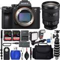 Sony Alpha a7R IV Mirrorless Digital Camera & 24-105mm Lens W/ 2x SanDisk 64GB MCs 36 LED Light Kit 72 Monopod Replacement Battery MORE