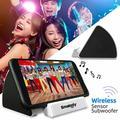 Wireless Sensor Subwoofer Speaker Amplifier Mini Smart Phone Stand Mobile Phone Loudspeaker Outdoor Audio Speakers White