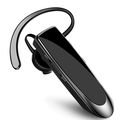 Wireless Bluetooth Earpiece , in-Ear Earpiece Headset with Noise Cancelling Mic Headset for Phone Android Laptop Trucker Driver BLACK