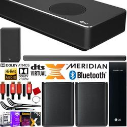 LG SN10YG 7.1.2 ch Full Surround Sound Wireless Expansion 710W Bundle 5.1.2 High Res Sound Bar with Dolby Atmos + 2.0 ch SPK8-S Rear Speaker Kit + Subwoofer + 2x Deco Gear HDMI Cable + Mount & more