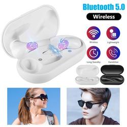 Wireless Earbuds, TSV Bluetooth 5.0 Headphones in-Ear Stereo TWS Bluetooth Earphones, Touch Control Wireless Headphones with Noise Cancelling Mic & Charging Case, Compatible with IOS Android Devices