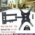 Joyful TV Wall Mount Swivel Bracket 26-55 Inch Flat Screen TV Mount Bracket Universal