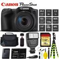 Canon PowerShot SX420 is Digital Point and Shoot Camera + Extra Battery + Digital Flash + Camera Case + 16GB Class 10 Memory Card + 2 Year Extended Warranty (Total of 3YR) - Intl Model