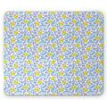 Baby Mouse Pad, Washing Time Themed Image with Soap Bubbles Water Droplets Rubber Ducks Pattern, Rectangle Non-Slip Rubber Mousepad, Blue Lilac Yellow, by Ambesonne
