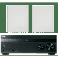"""Sony 5.2-Channel 725-Watt 4K A/V Home Theater Receiver + Polk 8"""" 2 Way High-Performance Natural Surround Sound In-Wall Speaker System (Pair) (Discontinued)"""