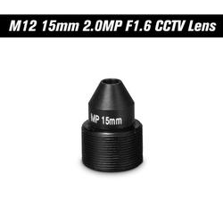 "Carevas HD 2.0 Megapixel Pinhole Lens M12 CCTV MTV Board 15mm Lens 1/2.7"" Aperture F1.6 28.3 Degree for Cameras"