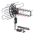 Outdoor TV Antenna, Long Range Antenna, 4K 1080P VHF UHF Digital HDTV Antenna, J Mount Included, Weather Resistant, Indoor Attic Mountable
