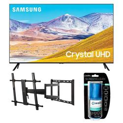 """Samsung UN85TU8000 4K Crystal 8 Series Ultra High Definition Smart TV with a Walts TV Large/Extra Large Full Motion Mount for 43""""-90"""" Compatible TV's and Walts HDTV Screen Cleaner Kit (2020)"""