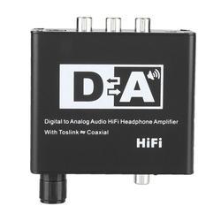 OTVIAP Digital To Analog Audio Converter HiFi Headphone AMP Adapter Optical Coaxial SS