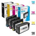 4 Pack LD Remanufactured Cartridge Replacements for HP 950XL & HP 951XL High Yield Ink Cartridges (1 each remanufactured HP 950XL Black, HP 950XL Cyan, 1 Magenta, 1 Yellow ink cartridges)