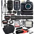 CanonEOS 5D Mark IV DSLR Camera Holiday Deal Bundle w/Canon 24-105mm f/4L is II USM Lens & Sigma 70-300mm Zoom Lens + 500mm MF Preset Lens + Battery Grip, LED Video Light & Microphone Accessory Kit
