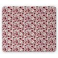 Peppers Mouse Pad, Various Types of Chilli Peper Simplistic Composition of Kitchen Elements Design, Rectangle Non-Slip Rubber Mousepad, Ruby and Green, by Ambesonne