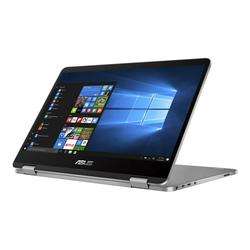 """ASUS VivoBook Flip 14 TP401MA XS24T - Flip design - Pentium Silver N5030 / 1.1 GHz - Win 10 Pro - 4 GB RAM - 128 GB eMMC - 14"""" touchscreen 1366 x 768 (HD) - UHD Graphics - Wi-Fi 5, Bluetooth - light gray - with 1 year Domestic ADP with product..."""