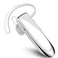 Wireless Bluetooth Earpiece , in-Ear Earpiece Headset with Noise Cancelling Mic Headset for Phone Android Laptop Trucker Driver WHITE