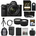 Sony Alpha A7 II Digital Camera + 28-70mm FE OSS Lens with 64GB Card + Backpack + Battery + Tripod + Tele/Wide Lens Kit