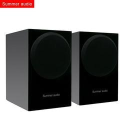 Summer Audio Speaker 2.0 Channel HiFi Stereo Passive Bookshelf Speakers with -Skid Mat for Home System