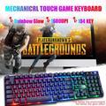 Gaming Keyboard and Mouse Combo Set, 104-Key Wired USB RGB LED-Backlit Gaming Keyboard Rainbow Glow, Desktop Punk Mechanical Feeling - Black