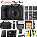 Canon PowerShot SX420 is Digital Point and Shoot 20MP Camera + Extra Battery + Digital Flash + Camera Case + 32GB Class 10 Memory Card - Intl Model