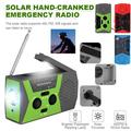 VONTER 2000mAh Emergency Radios with Phone Chargers & Solar Panel, Portable Hand Crank Weather NOAA Radio with Battery Backup SOS Flashlight Reading Lamp for Camping, Power Outage, Hurricane Supplies