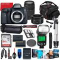 Canon EOS 6D Mark II DSLR Camera with 50mm f/1.8 & 75-300mm III Lens Bundle + Battery Grip + Premium Accessory Bundle Including 64GB Memory, Extra Battery, Photo/Video Software Package, Bag & More