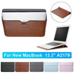 """13.3 Inch Laptop Sleeve Bag, Protective PU Leather Notebook Case Cover for Apple MacBook Air 13.3"""" / MacBook Pro 13.3""""(2015/2016) / Dell XPS13 13.3"""" / Asus ZenBook Flip(UX360CA) 13.3"""", Brown"""
