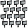 Satco (16 Pack), Part Number: 65-533, Outdoor Lighting, Flood & Security Lights LED Small Flood Light; 15W; 5000K; Bronze Finish Waterproof for Patio, Yard, Garage, and Parking Lots
