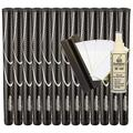 "JumboMax Tour Series XL (+3/8"") Black/Silver (13pc set) + Golf Grip Kit (tape, solvent, shaft clamp) Black / Silver"