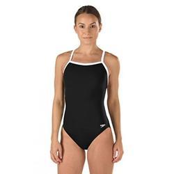 Speedo Women's Race Endurance+ Polyester Flyback Training One Piece Swimsuit, Black, 28