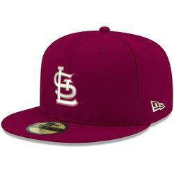 St. Louis Cardinals New Era Logo 59FIFTY Fitted Hat - Cardinal