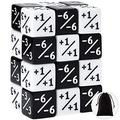 24 Pieces Dice Counters Token Dice Loyalty Dice D6 Dice Cube Compatible with MTG, CCG, Card Gaming Accessory