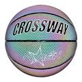 Holographic Basketball Glowing Reflective Basketball Luminous Basketball No.7 for Night Sports