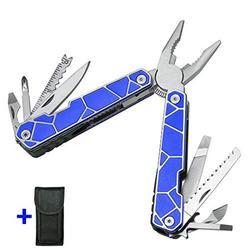 11 In 1 Multitool - Best Multi Tool All In One for Men - Multitool Knife Knives - Camping Survival EDC Multi-Tool - Blue Multitool Pliers - Multitools Pocket Knofe Multitool - Best Gift for Men 2