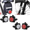 2 Pack USB Rechargeable Bike Light Set, Super Bright Front Headlight and Rear LED Bicycle Light, 4 Light Mode Options, Water Resistant IPX4(4 USB Cables and 4 Strap Included)