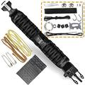 Survival Paracord Bracelet Emergency Tactical Survival Gear Kit Camping, Fishing, Hunting & Outdoors Multipurpose Survival Tool 550, Whistle, Flint Fire Starter